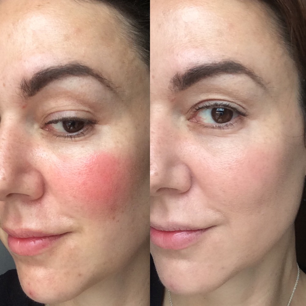 correcting makeup  mistakes too much blusher covered with foundation