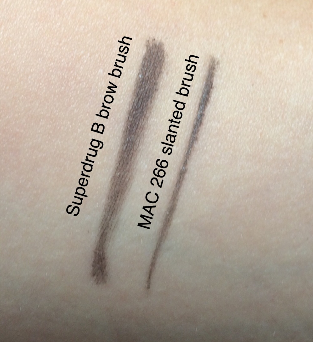 superdrug b brow brush  review comparison swatch
