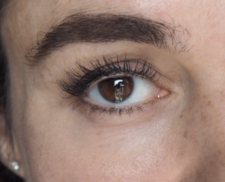 close up of eye wearing unforgettable mascara by kiko