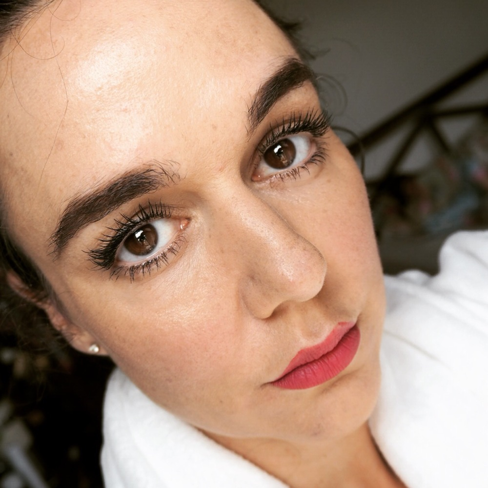 full face pic wearing maxi mod by kiko- kiko mascara review