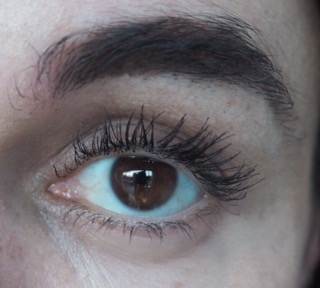 close up of eye wearing luxurious lashes mascara by kiko