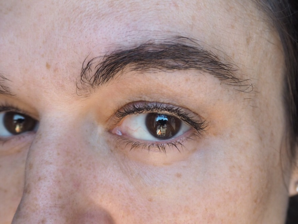 how to grow back sparse overplucked brows- Unfilled in patchy left brow