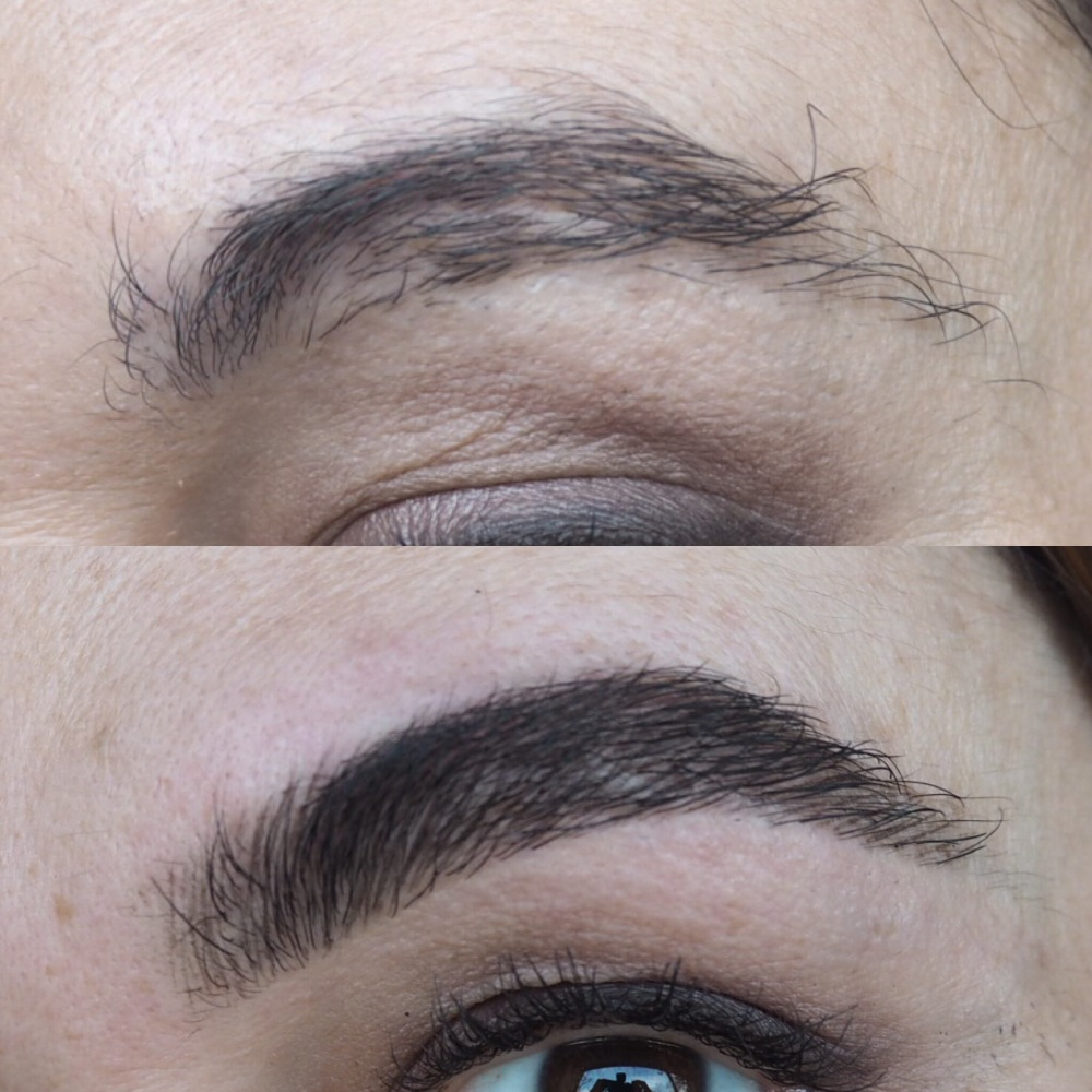 High Definition HD Brow Treatment Cardiff Salon Nia before and after close up of brows
