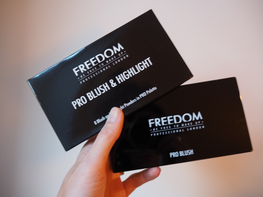 Freedom Pro Blush and highlighter Palette in Pink and Baked packaging