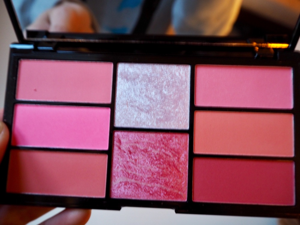 Freedom Pro Blush and highlighter Palette in Pink and Baked close up of pans
