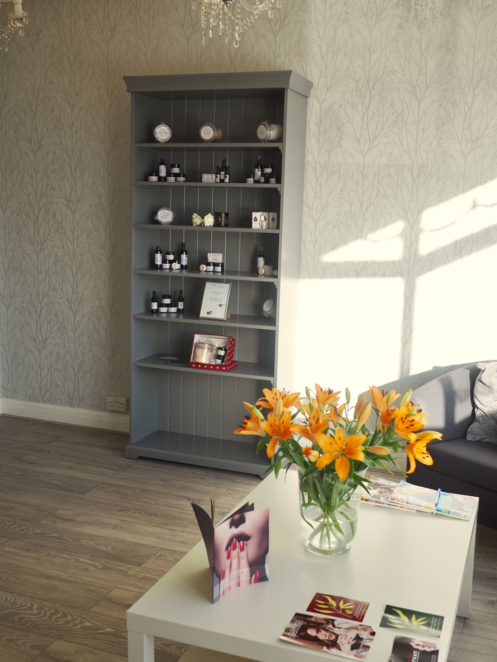 Tycio Wellbeing Beauty Salon and Spa Review interior waiting room