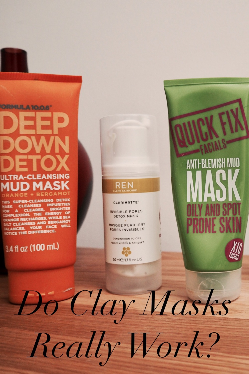 Do Clay Masks Really Work? Row of tubes of mask