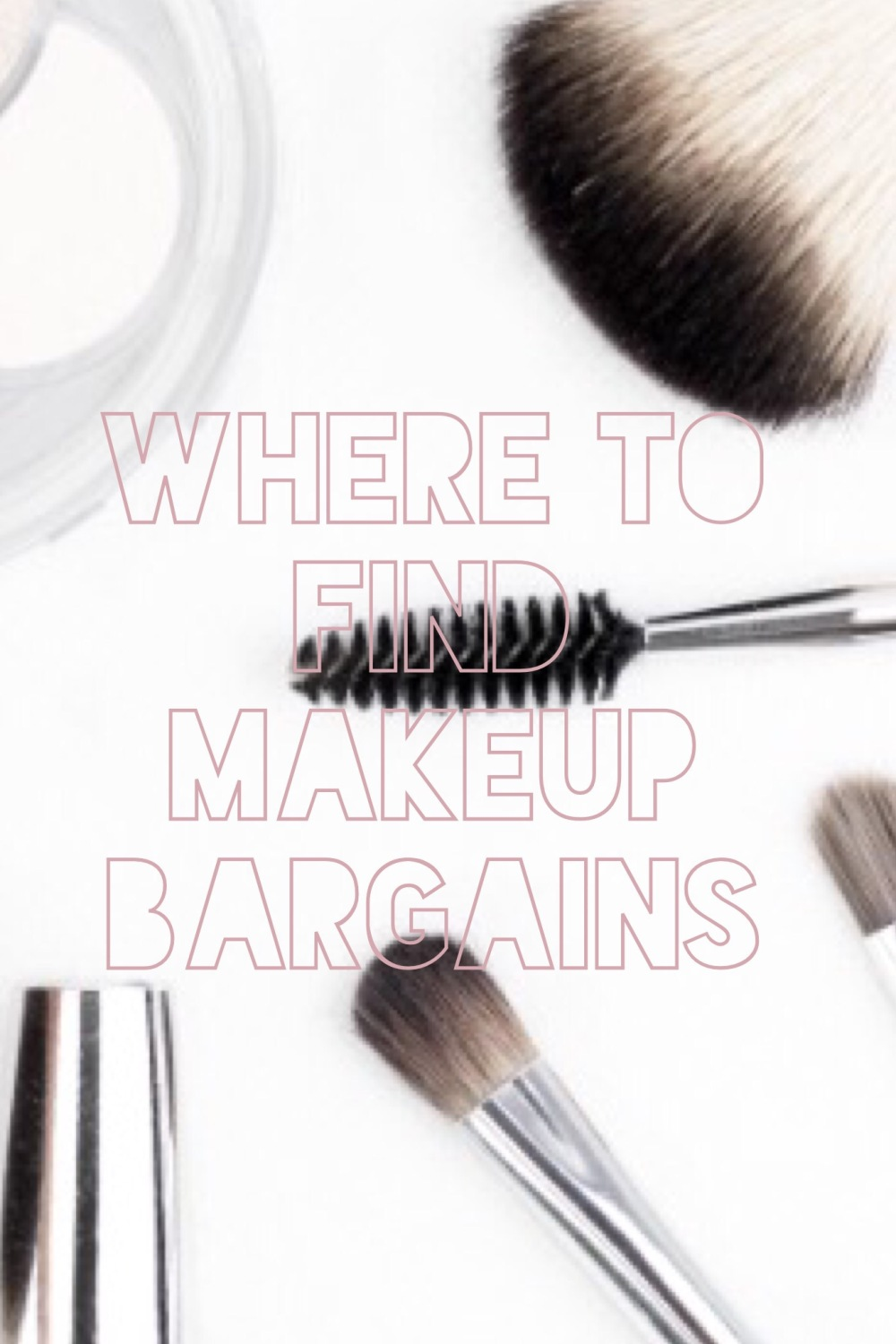 Where To find and buy cheap makeup bargains pinnable image