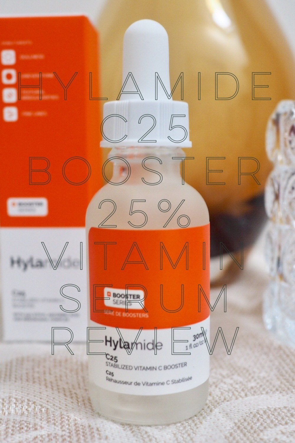 Hylamide 25% Vitamin C C25 Booster pinnable image of packaging
