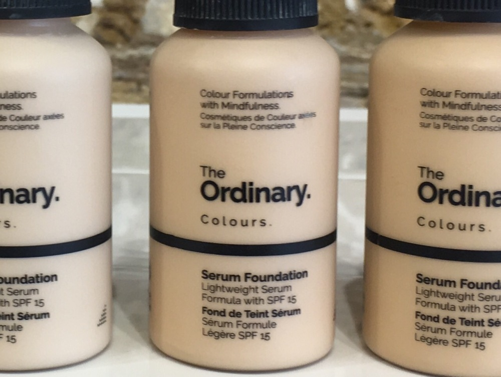 New The Ordinary Colours Foundation close up of bottle