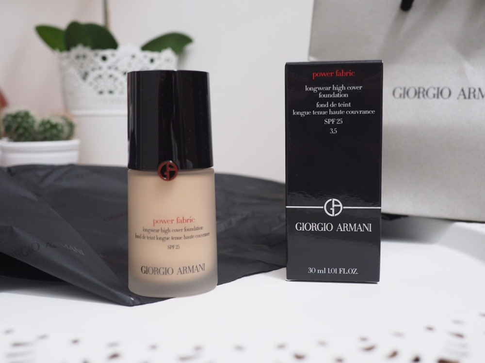 Giorgio Armani Power Fabric Foundation Review and Swatches