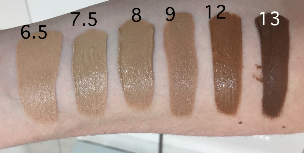 Giorgio Armani Power Fabric Foundation Swatches