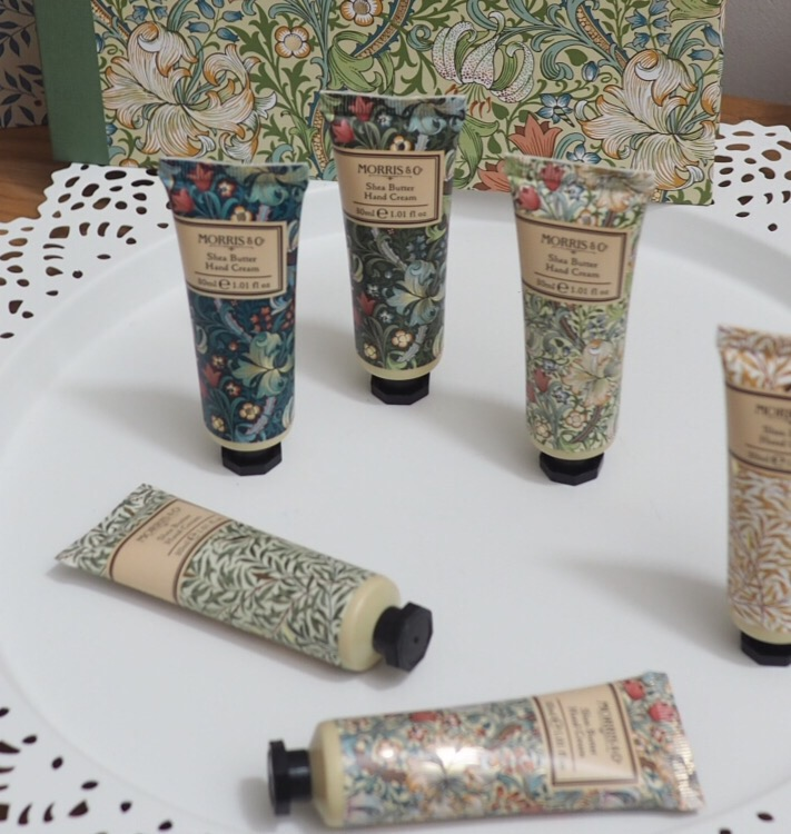 Morris and Co Gift Collection from Heathcote and Ivory Golden Lily Hand Cream Library