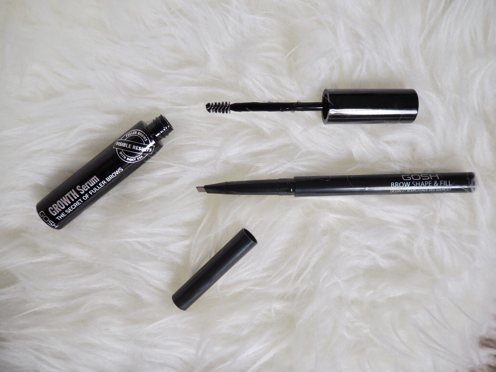 Gosh Brow Shape & Fill in Shade 002 grey/brown and Gosh Growth Serum