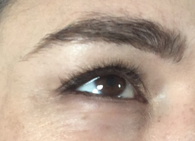 Skinn Wow Factor Mascara- Before close up eye