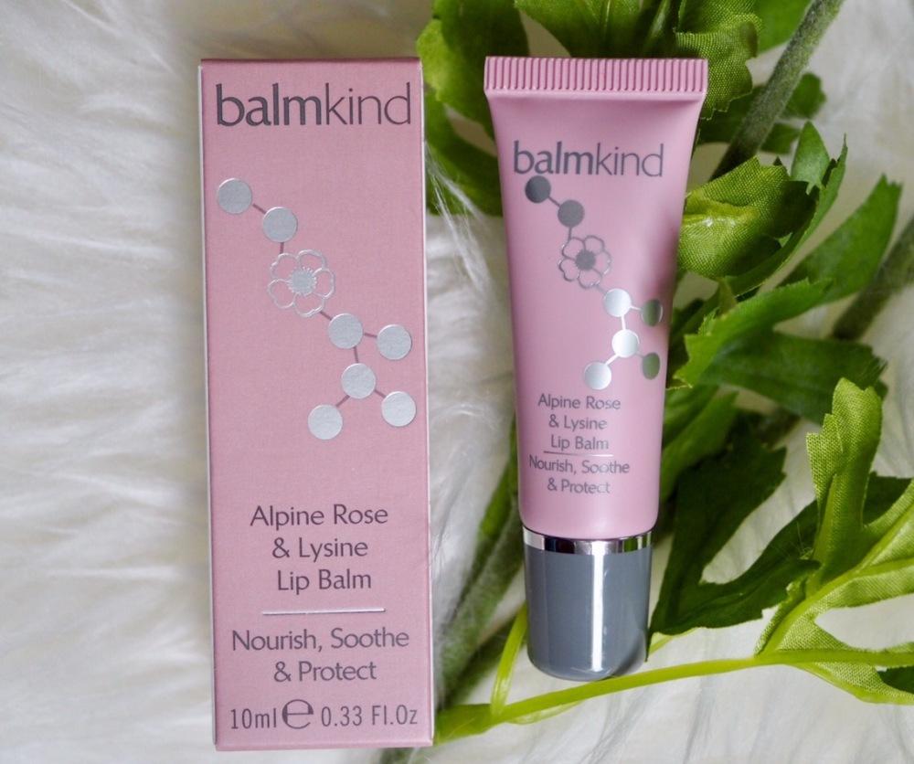Balmkind Alpine Rose and Lysine Lipbalm- pink tube