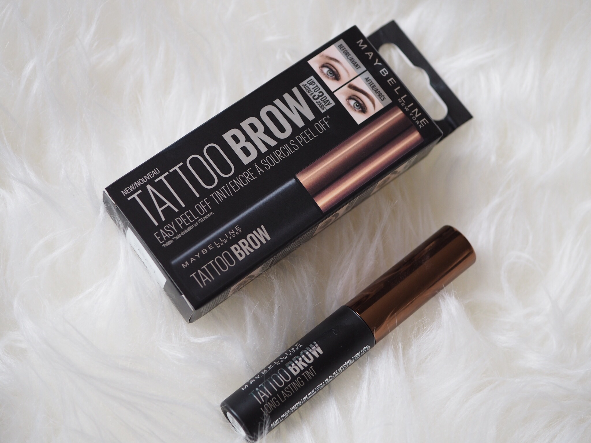 Maybelline tattoo brow easy peel off tint review for Tattoo brow gel