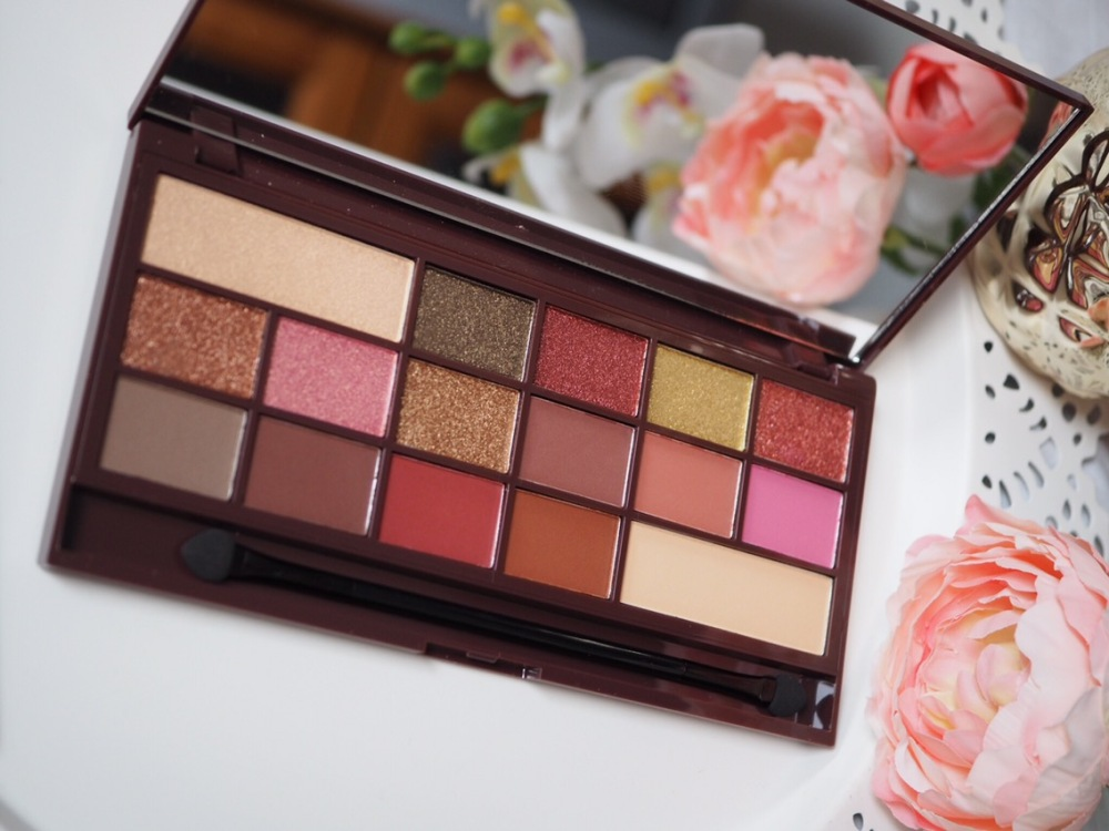 I Heart Makeup I Heart Chocolate Rose Gold Palette Open